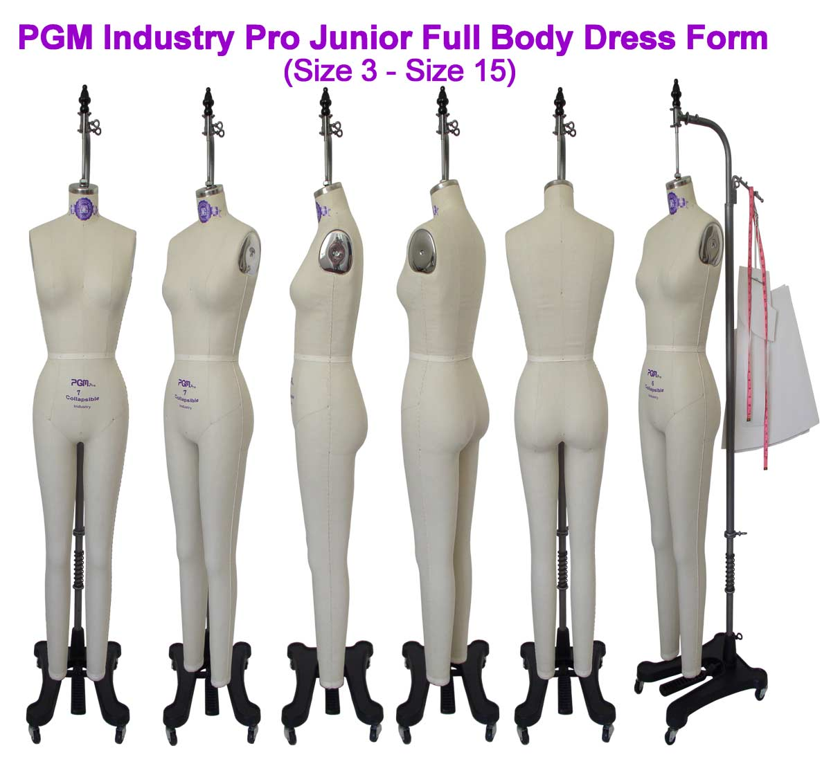 PGM Junior Full Body Dress Form (Industry Pro 605A)