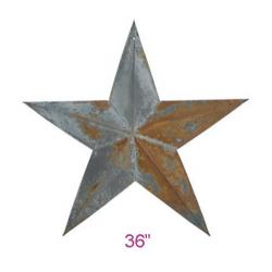 "PGM Irregular Rustic Barn Star (36"") x 6 pcs (102-36)"