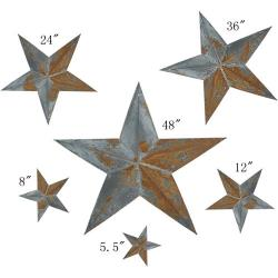 PGM Irregular Rustic Barn Star (6pcs/set x 3 sets, 102-A)