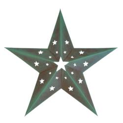 "PGM Hollow-out Rustic Barn Star (24"", 103-24)"