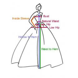 PGM How to Measure Bridal Gown