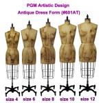 PGM Antique Missy Dress Form with Hip (Antique Design, 601AT )