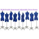 PGM Adjustable Sewing Dress Forms (ADF601, Blue)