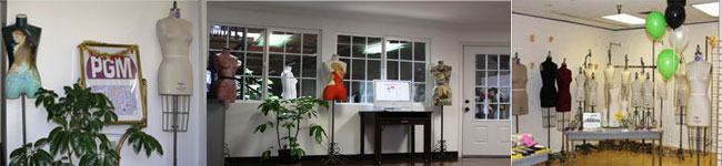 Welcom to PGM Showroom to choose professional dress forms, pattern making supplies, sewing mannequins. PGM provides free parking
